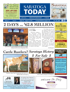 Saratoga Publishing Aug. 10, 2018