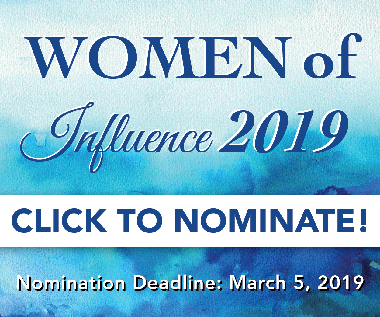 Women of Influence Nomination 2019
