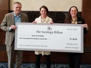 The Saratoga Hilton Donates Proceeds from 25th Annual Breakfast with Santa to Beyond My Battle