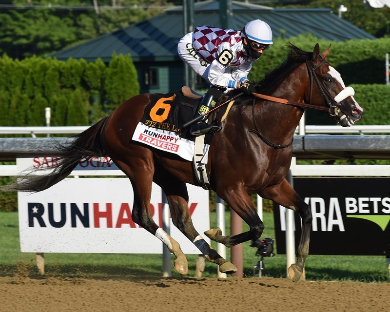 Locally-owned Tiz The Law, this year's Belmont Stakes and Travers Stakes winner, will be competing in the Breeder's Cup Classic for a purse of $6 million