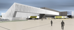 This is a rendering of the Dollar General Distribution Center in Bessemer, Alabama, a new facility opened a few years ago. It is typical of what modern Dollar General Distribution Centers look like.