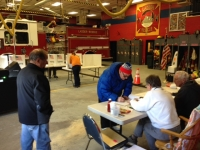 Voters and election officials do their civic duty on March 21 inside the Eagle Matt Lee fire station in Ballston Spa.