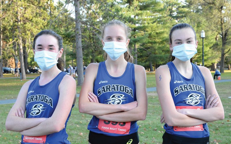 Top Three Runners: Emily Bush, Ella Kurto, and Mackenzie Hart  Photo by Super Source Media.