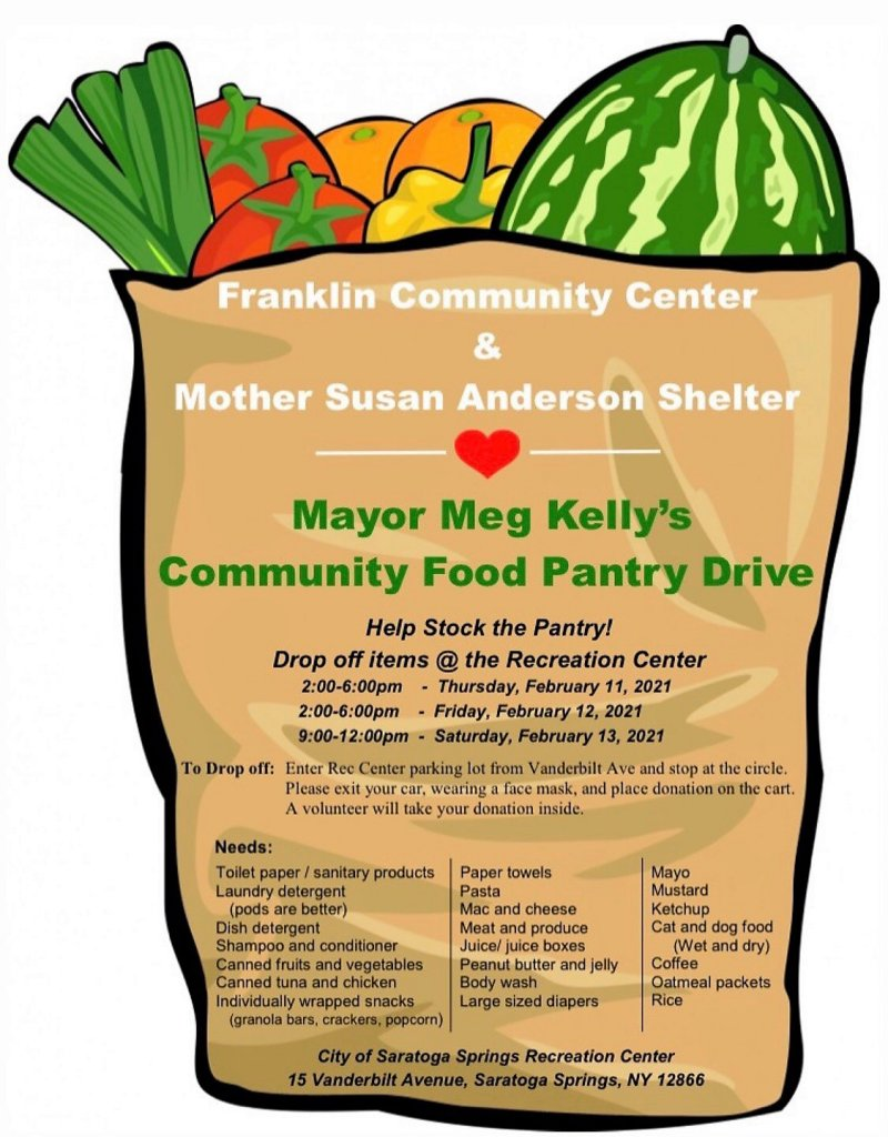 Drive-Through Food Drive Feb. 11-13